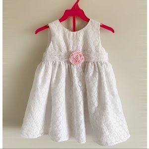 4T white lace dress